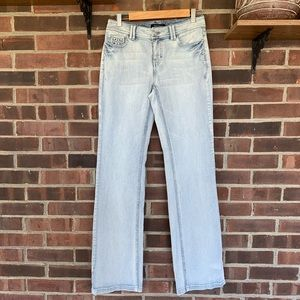NWT WHBM light wash bootcut jeans